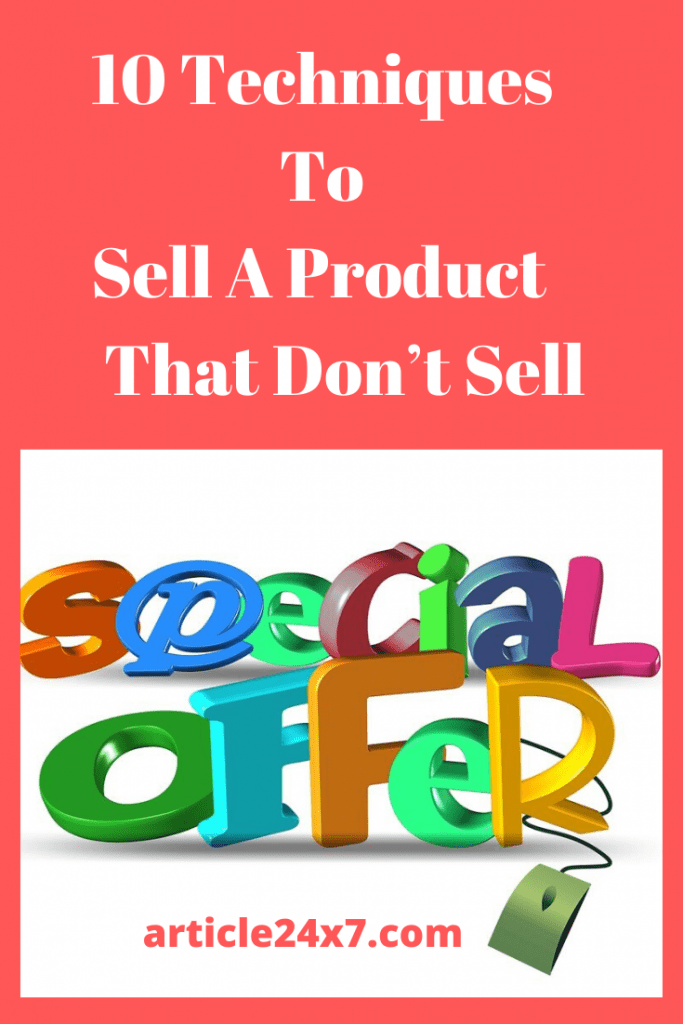 Sell A Product