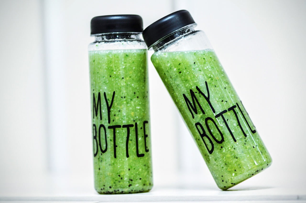 bottled green smoothies