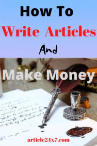 Write Article and Make Money