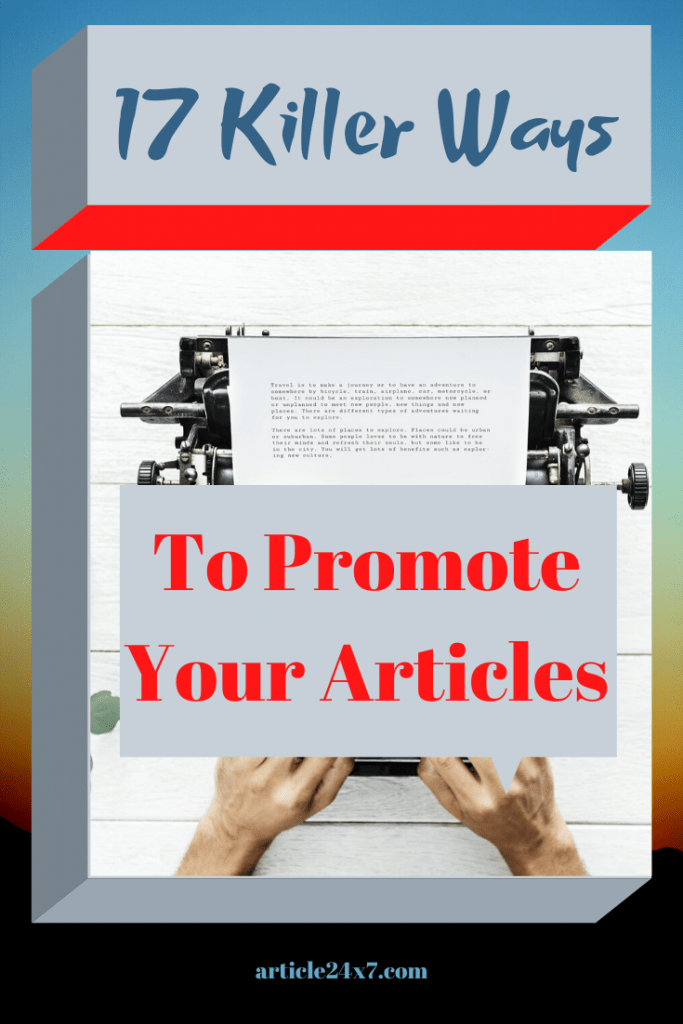 Promote Your Articles