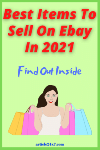 Best Item To Sell On Ebay