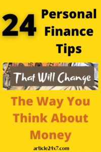 Personal Financial Tips